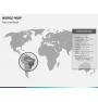 World map PPT slide 10