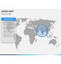 World map PPT slide 11