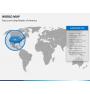 World map PPT slide 12