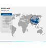 World map PPT slide 13