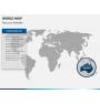World map PPT slide 14