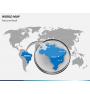 World map PPT slide 15