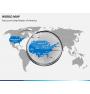 World map PPT slide 17