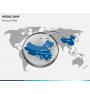 World map PPT slide 18