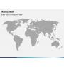 World map PPT slide 2