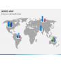 World map PPT slide 20