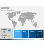 World map PPT slide 22