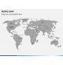 World map PPT slide 4
