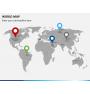 World map PPT slide 5
