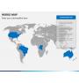 World map PPT slide 6