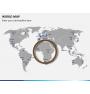 World map PPT slide 8