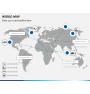 World map PPT slide 9