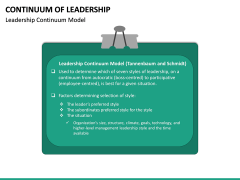 Continuum of Leadership PPT Slide 12