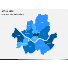 Seoul Map PPT Slide 1