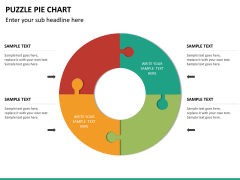 Puzzle pie chart PPT slide 21