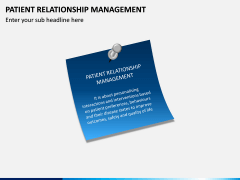 Patient Relationship Management PPT Slide 1