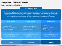 VAK Learning Styles PPT Slide 8