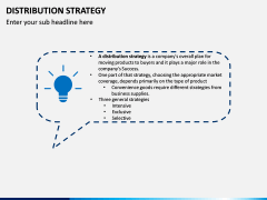 Distribution Strategy PPT Slide 1