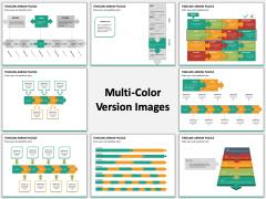 Timeline Arrow Puzzle Multicolor Combined