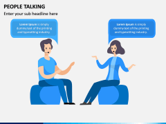 People Talking PPT Slide 6