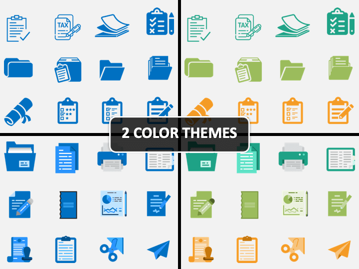 Document Icons PPT Cover Slide