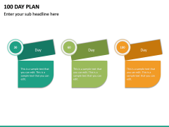 100 Day Plan PPT Slide 21