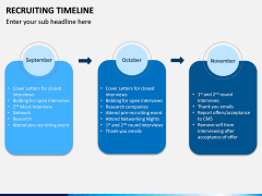 Recruiting Timeline PPT Slide 5