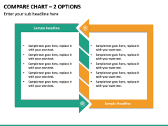 Compare Chart – 2 Options PPT slide 2