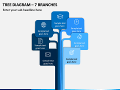 Tree Diagram – 7 Branches PPT slide 1