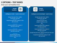 2 Options – Text Boxes PPT slide 1