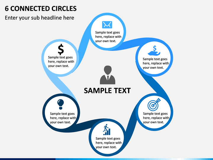 6 Connected Circles PPT Slide 1