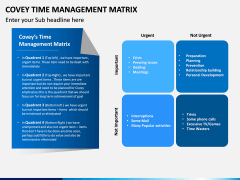 Covey Time Management Matrix PPT Slide 8