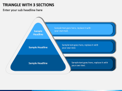 Triangle with 3 Sections PPT slide 1