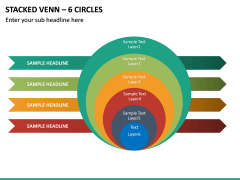 Stacked Venn – 6 Circles PPT Slide 2