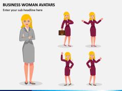Business Woman Avatars PPT Slide 3