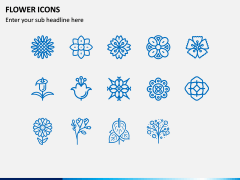 Flower Icons PPT Slide 3