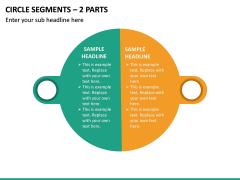 Circle Segments – 2 Parts PPT Slide 2