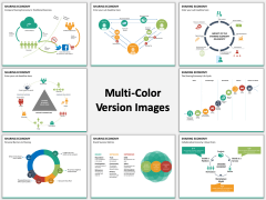 Sharing economy multicolor combined