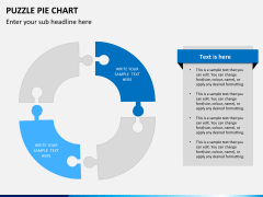 Puzzle pie chart PPT slide 6