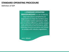 Standard Operating Procedure PPT slide 16