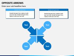 Opposite Arrows PPT Slide 12