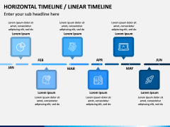 Horizontal Timeline PPT Slide 5