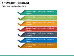 7 Items List - Checklist PPT slide 2