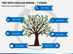 Tree With Circular Arrow – 7 Stages PPT Slide 1