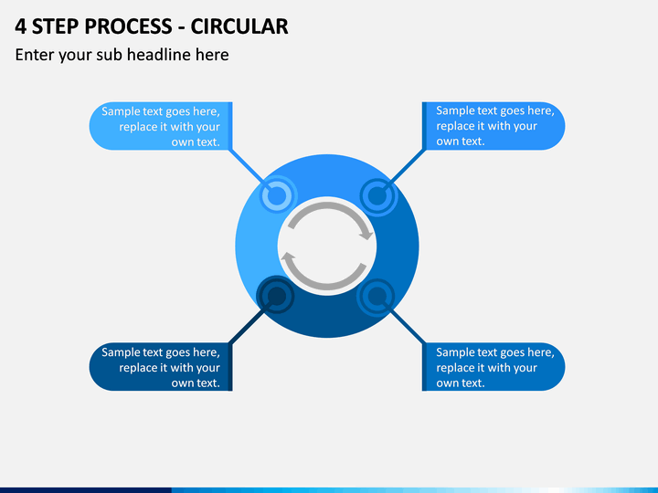 4 Step Process - Circular PPT slide 1