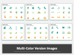 Startup Icons multicolor combined