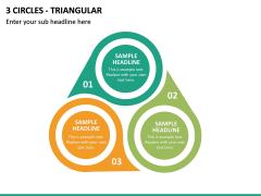 3 Circles - Triangular PPT Slide 2
