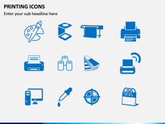 Printing Icons PPT Slide 1