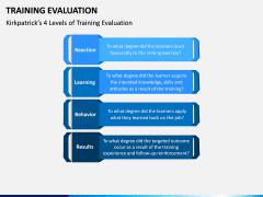Training Evaluation PPT Slide 1
