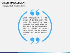 Credit Management PPT slide 1